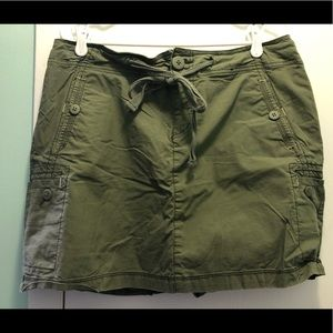 Lane Bryant skirt with shorts under size 16 olive